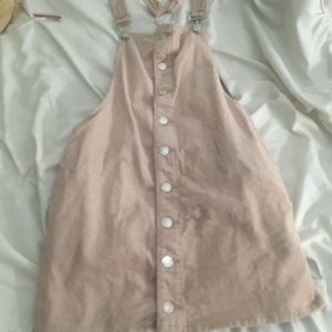 Corduroy light pink dress